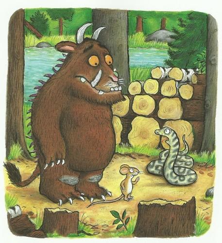 Il gruffalò, il serpente e il topo