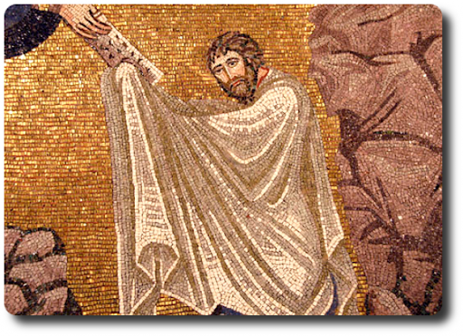 Mosaico di Mosè e il Decalogo